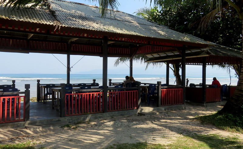 Double c's cafe Krui beach Lampung