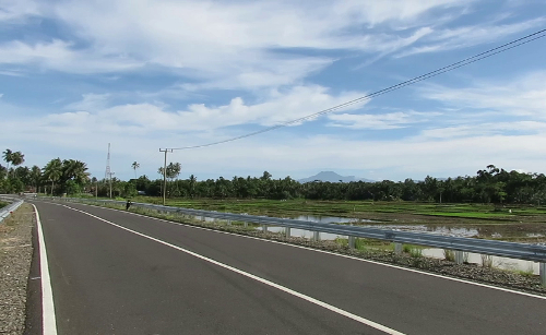 New road to mandiri Beach
