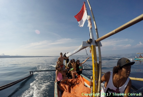 Boat to Banana Island South West Sumatra