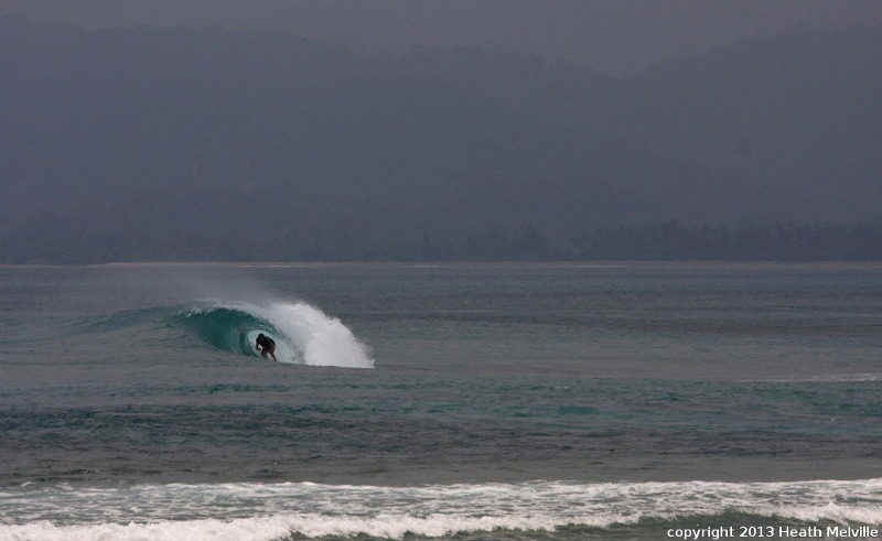 The Peak surf break Sumatra