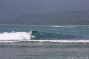 Krui Left surf break Sumatra