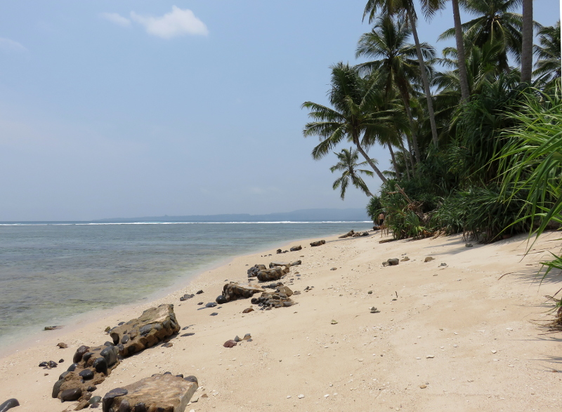 Beach at Jimmys Surf break sumatra