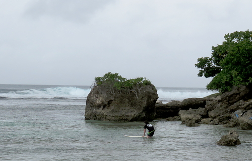 Surfing in South Sumatra