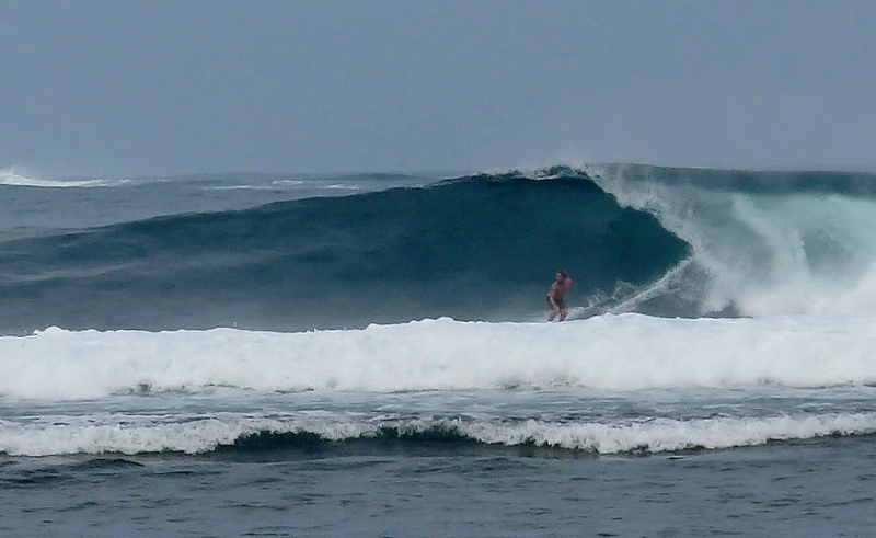 Jimmys Right surf break South Sumatra