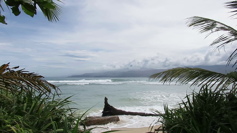 Krui Left surf break South Sumatra