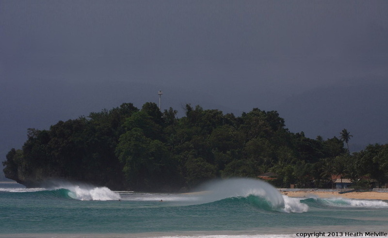 Krui Right surf break