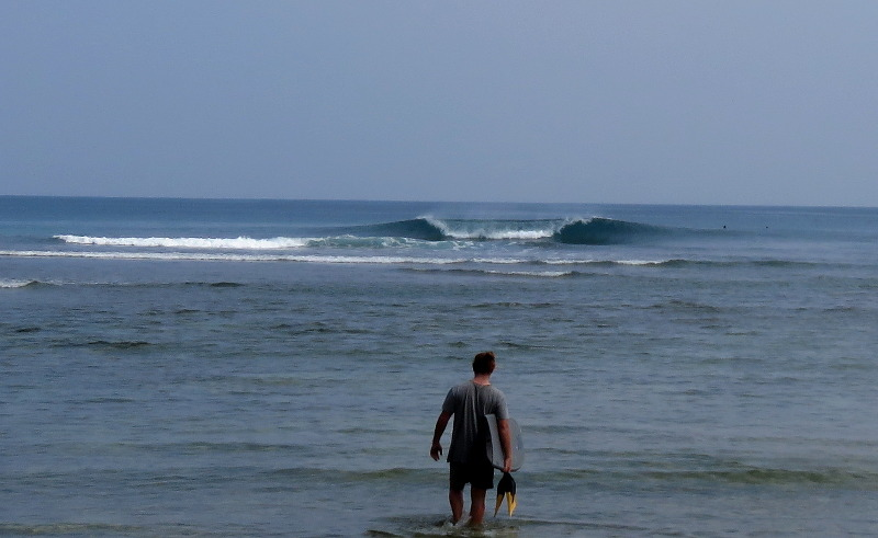 Very small day in July at The Peak Sumatra