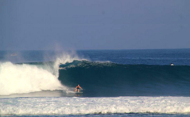 Ujung Bocur point break Sumatra